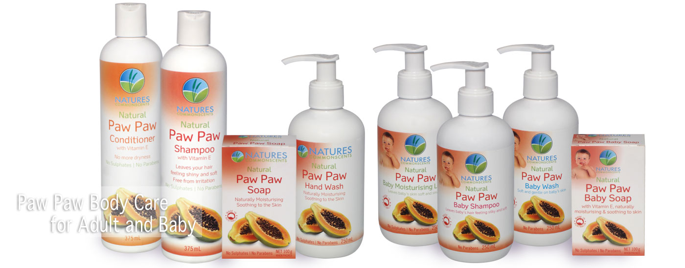 Natures Commonscents Paw Paw Hair & Body Care